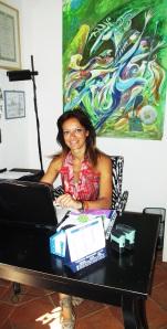 Milena at work