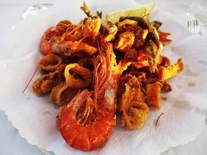 Shrimp, Calamari and ANCHOVY!