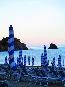 First sunset in Monterosso